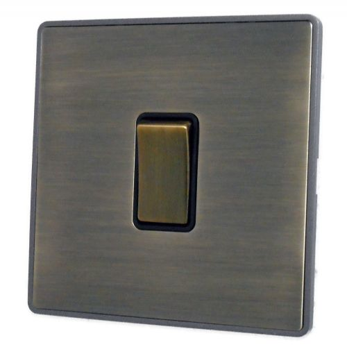 G&H LAB305 Screwless Antique Bronze 1 Gang Intermediate Rocker Light Switch